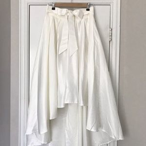 Gracia NWT high low skirt bow tie waist tulle M